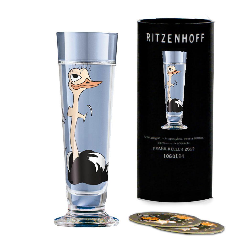 Taça de Schnapps Cristal Ritzenhoff Glass Itamar Harari 2008 40ml