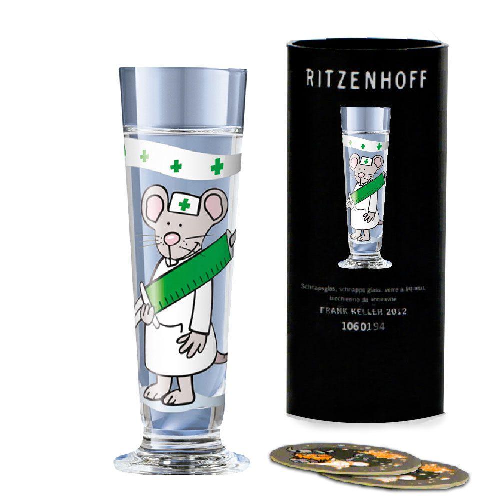 Taça de Schnapps Cristal Ritzenhoff Glass Julien Gunga 2007 40ml