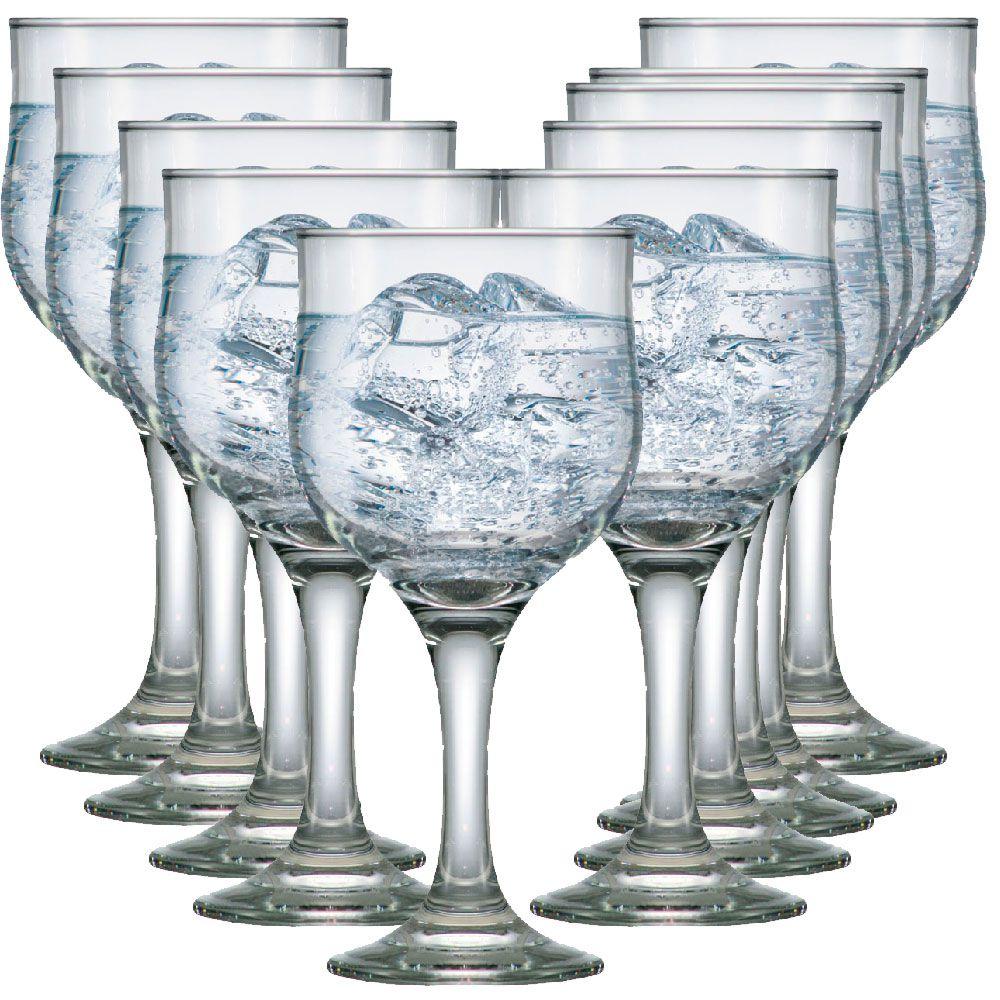 Taça Água Vinho - Jogo Conjunto Copo De 300ml Kit Max 10 Pcs