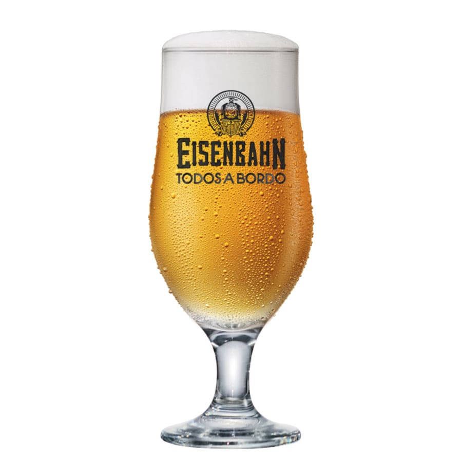 Taça Cerveja Chopp Oficial Vidro Eisenbahn Todos a Bordo 330ml