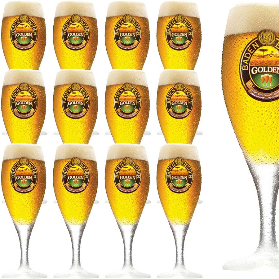Taça Cerveja Copo Cerveja Baden Baden Golden 400ml Kit C/ 12