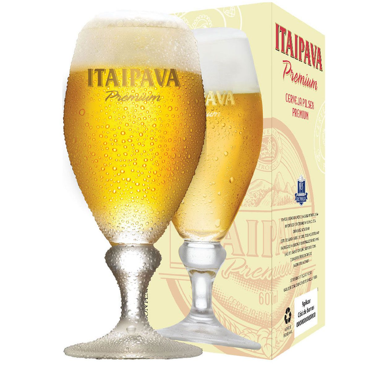 Taça Cerveja - Copo Cerveja Itaipava Premium 400ml C/ 2 Unid