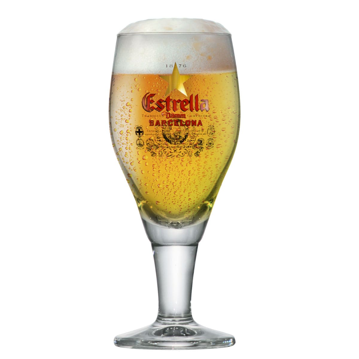 Taça Cerveja Cristal Estrella Daam Barcelona 290ml