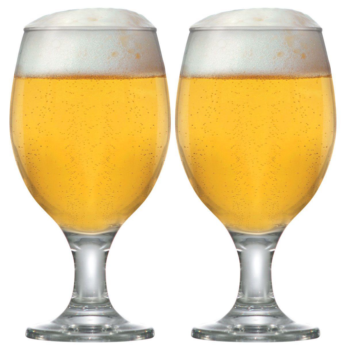 Taça Cerveja - Jogo Conjunto Copo Tulipa Kit Roma 2 Pcs