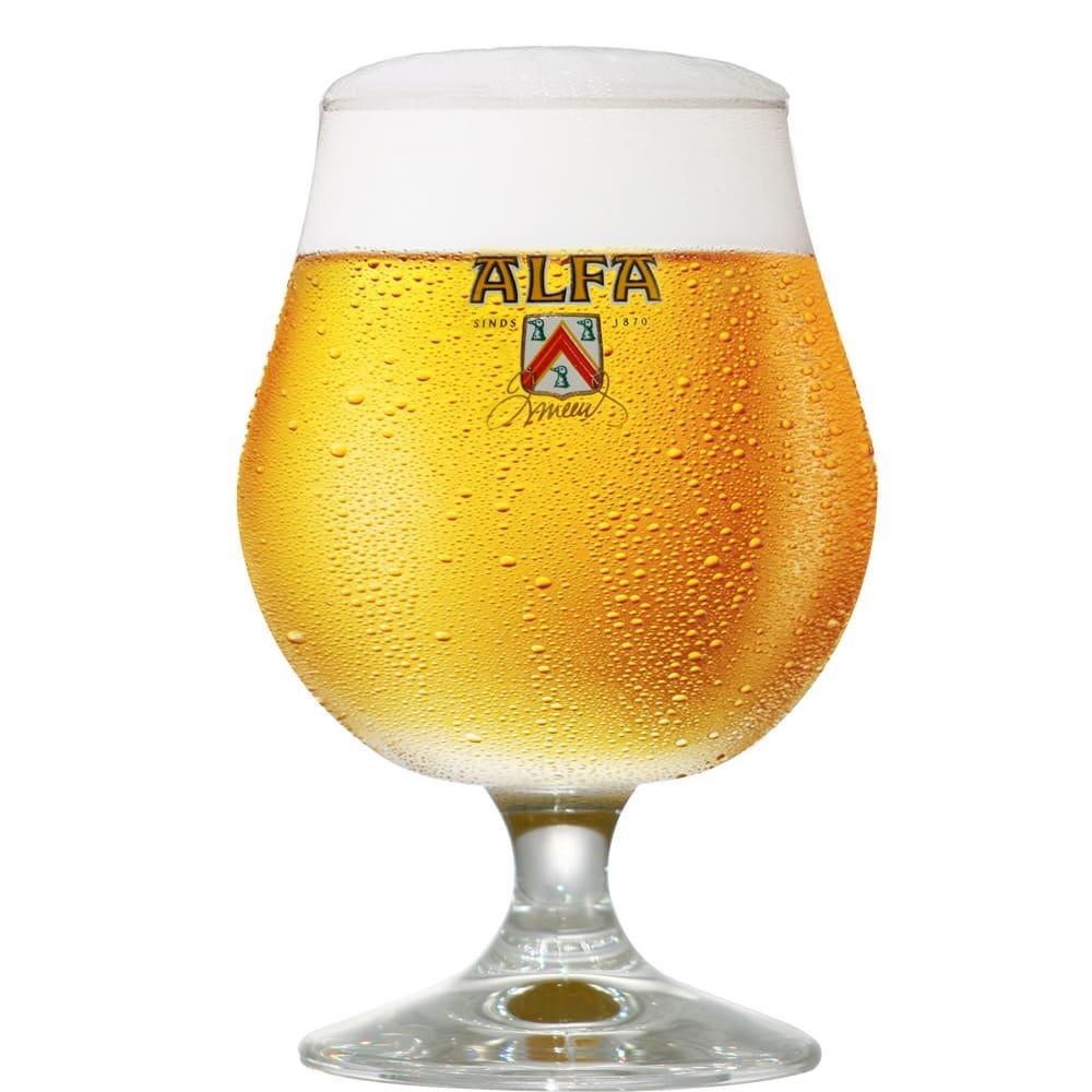 Taça de Cerveja Alfa 410ml Vidro