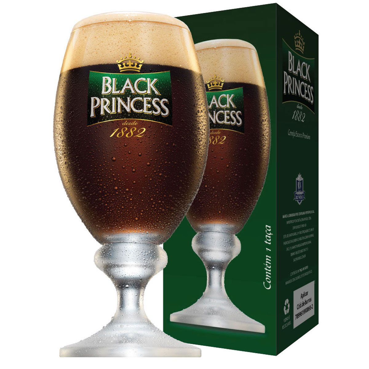 Taça de Cerveja Black Princess Cristal 370ML
