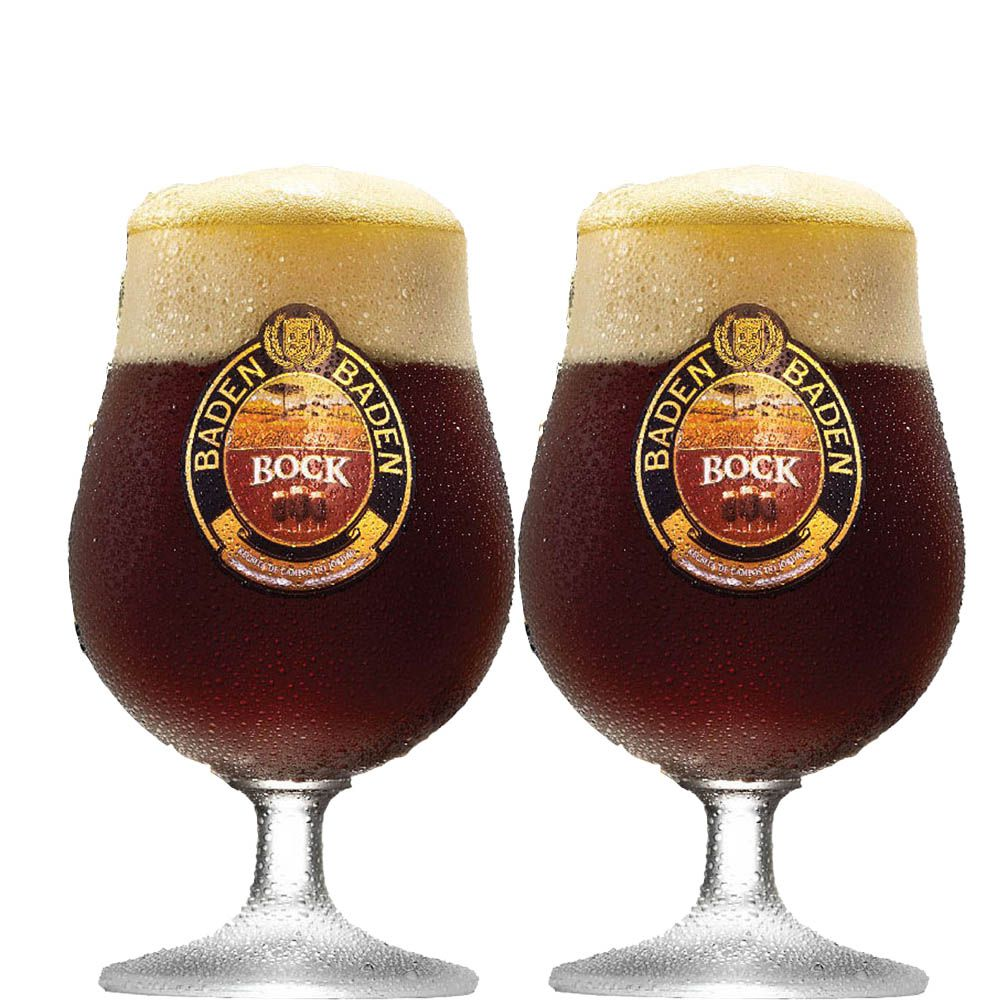 Taça de Cerveja Cristal Baden Baden Bock 400ml 2 pcs