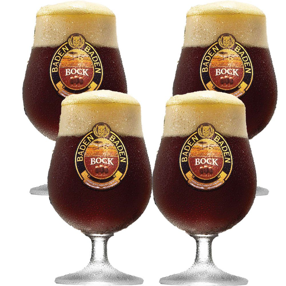Taça de Cerveja Cristal Baden Baden Bock 400ml 4 pcs