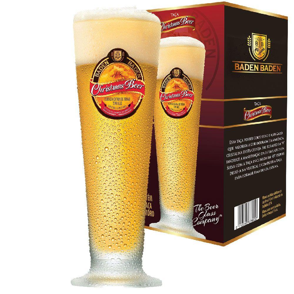 Taça de Cerveja Cristal Baden Baden Christmas 275ml