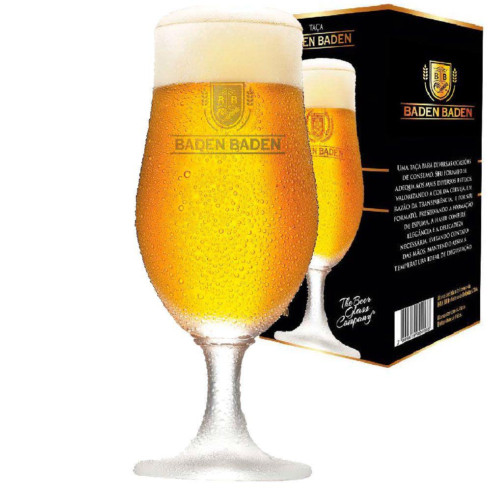 Taça de Cerveja Cristal Baden Baden Institucional 370ml