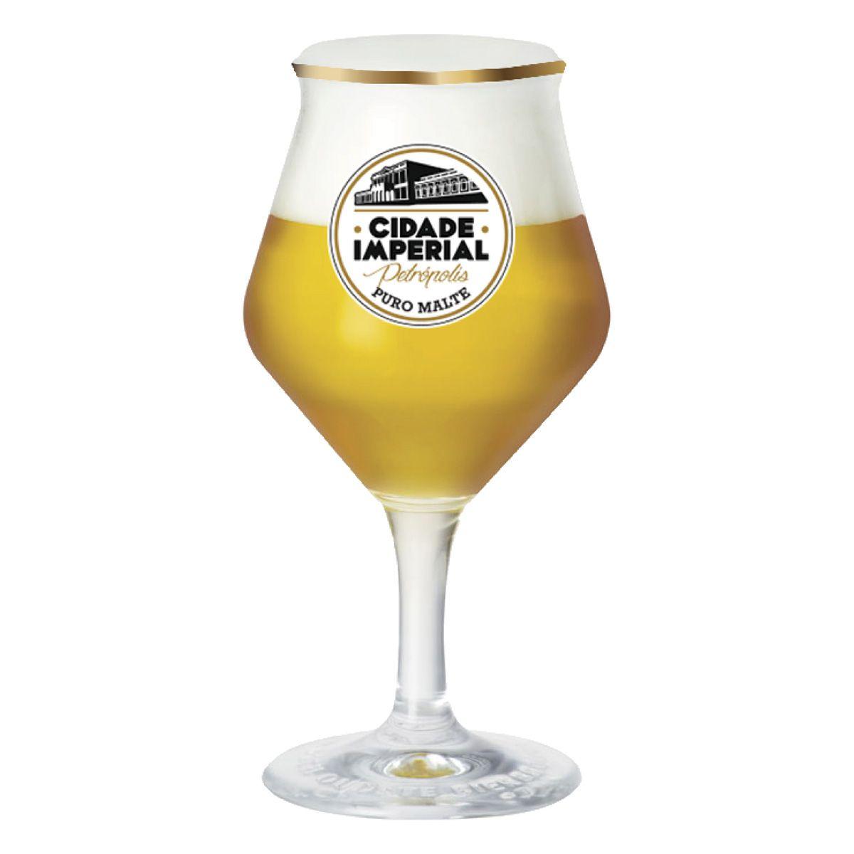 Taça de Cerveja Cristal Beer Sommelier 435ml Cidade Imperial