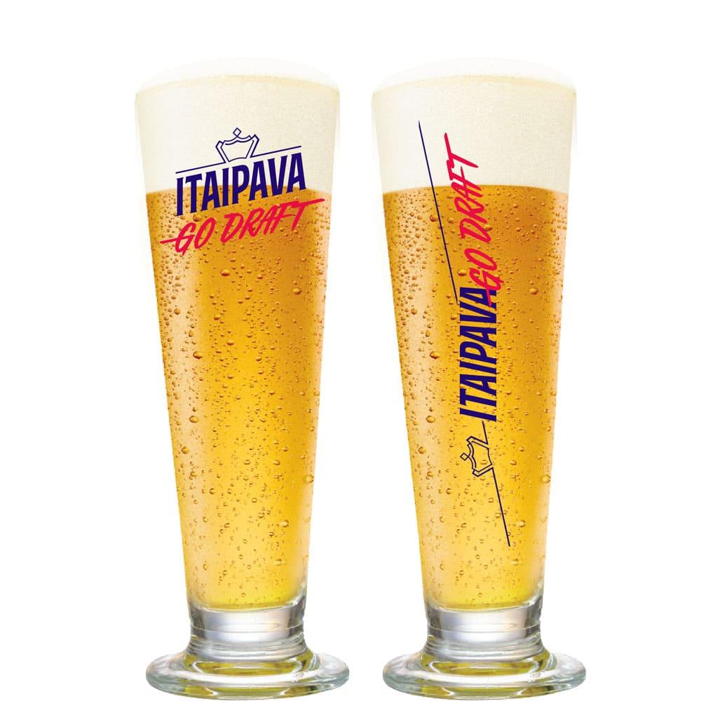 Taça de Cerveja de Cristal Go Draft Itaipava 385ml