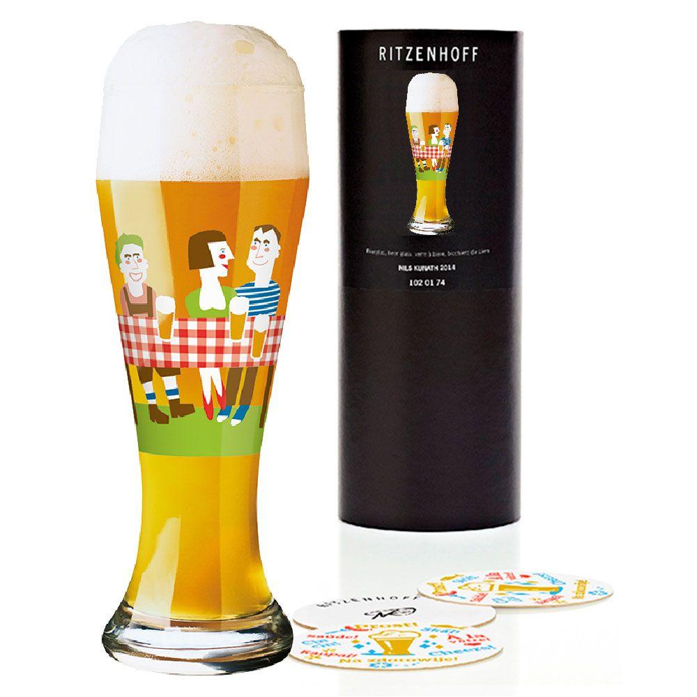 Taça de Cerveja Vidro Ritzenhoff Wheatbeer Gabiele Dunwald 2011 500ml
