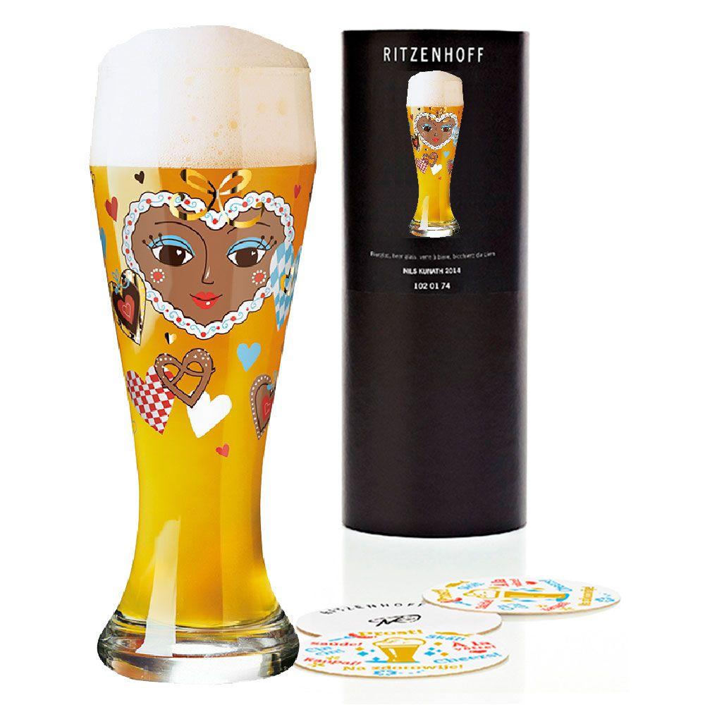 Taça de Cerveja Vidro Ritzenhoff Wheatbeer Michaela Koch 2012 500ml