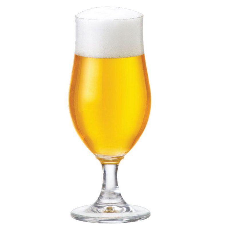 Taça de Cerveja Cristal Tulipa Nevada de 370ml