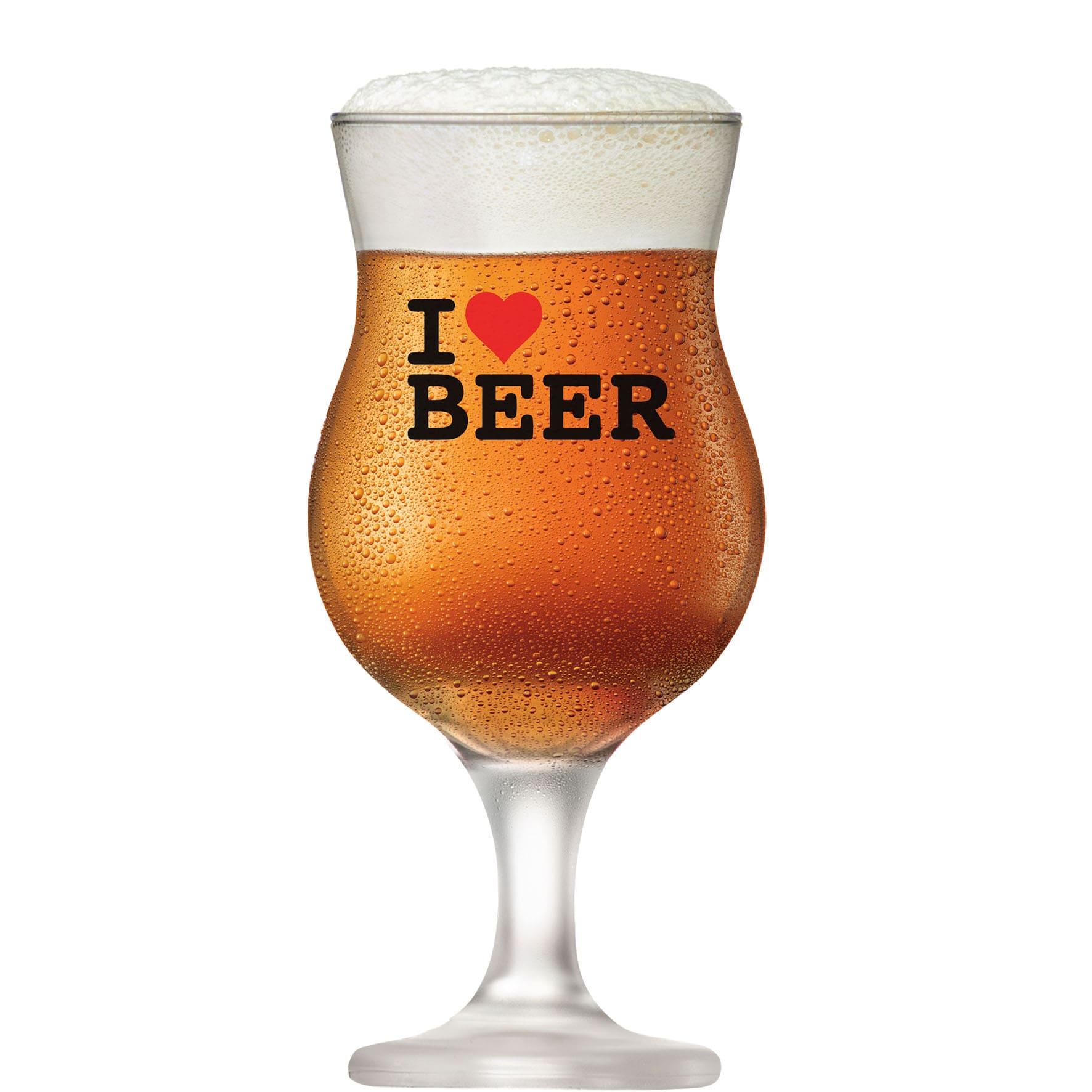Taça de Cerveja Vidro Tulipa Panamá 400ml I Love Beer