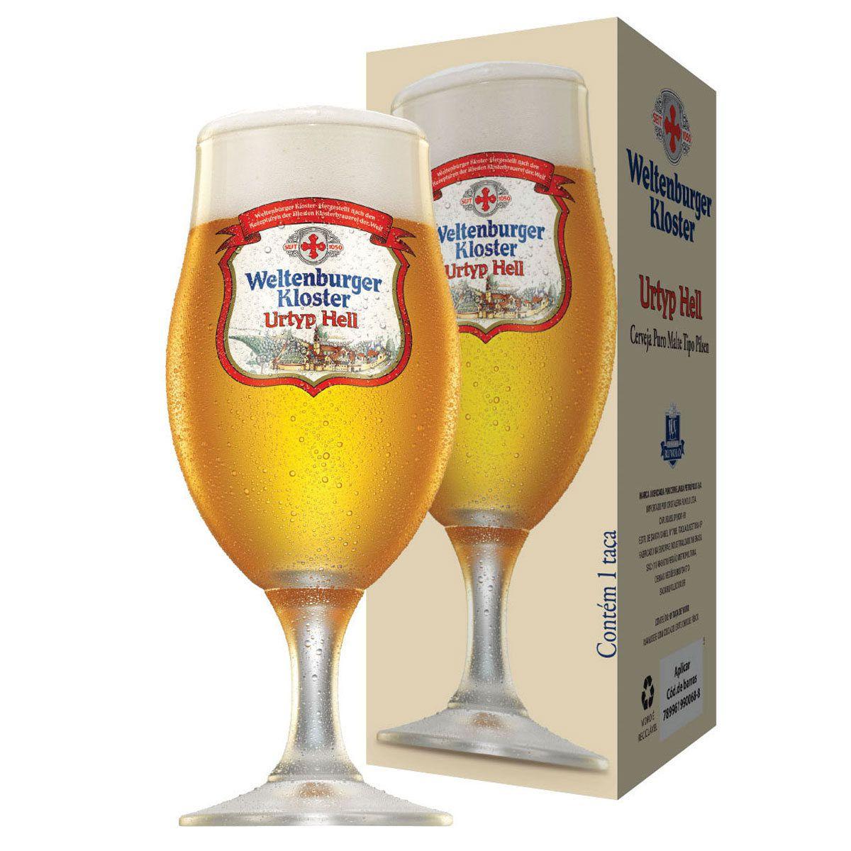 Taça de Cerveja Cristal Weltenburger Urtyp Hell 300ml