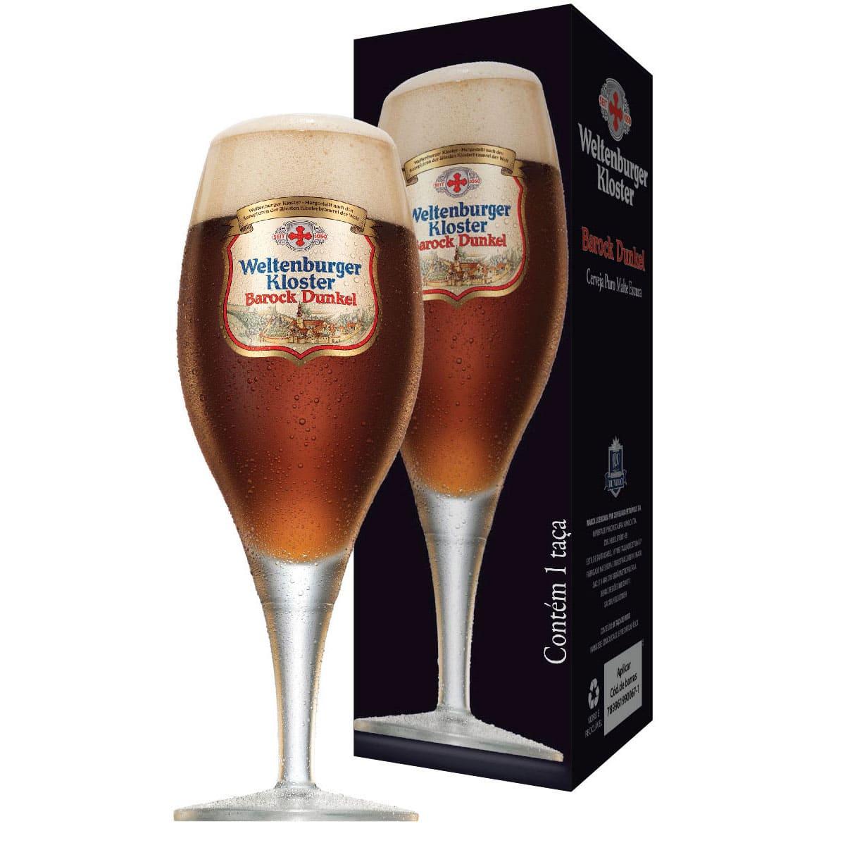 Taça de Cervejas Weltenburguer Barock Dunkel 215ml