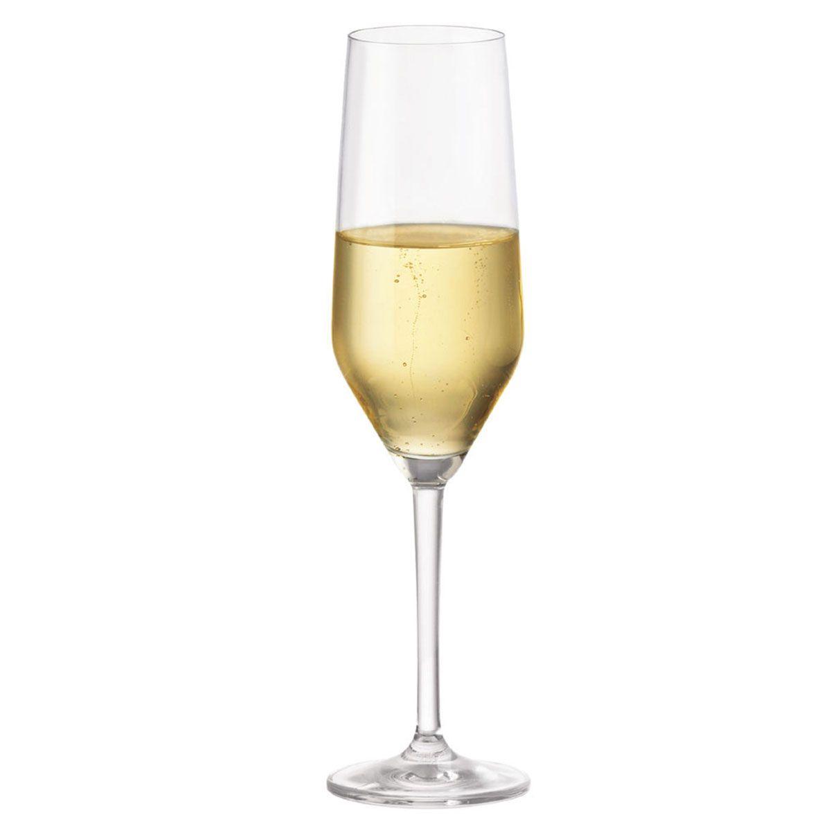 Taça de Champanhe de Cristal Elegance 260ml