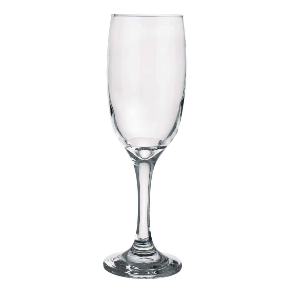 Taça de Champanhe de Vidro América 210ml