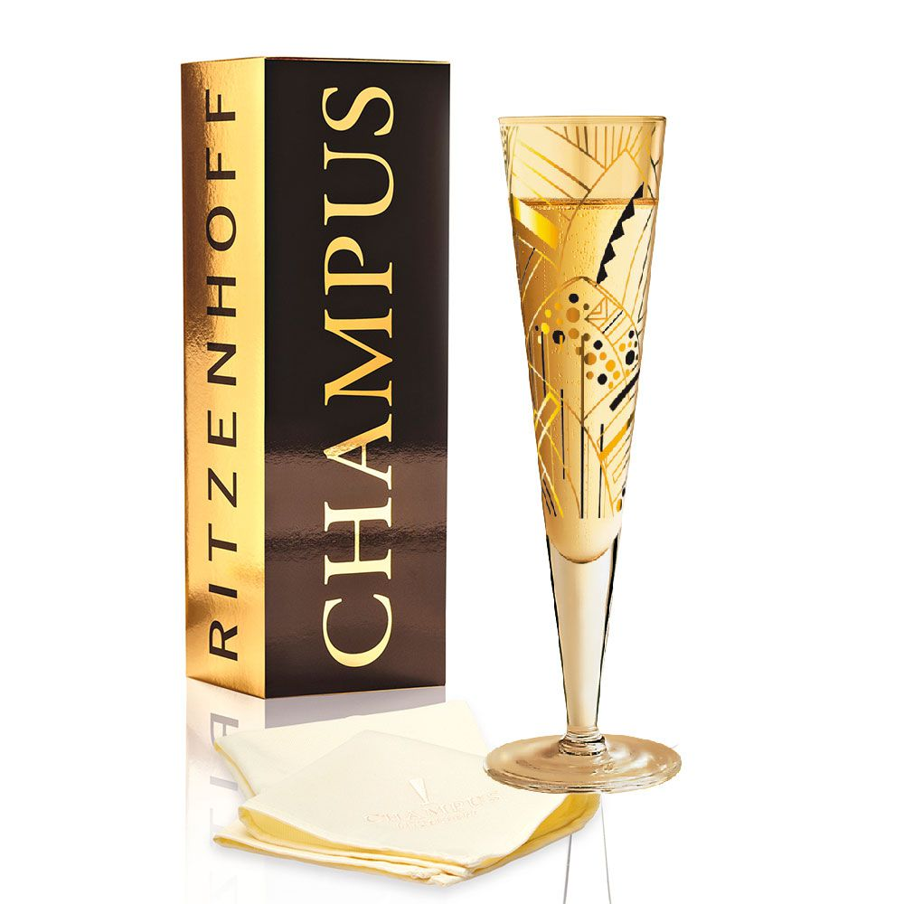 Taça de Champanhe Cristal Ritzenhoff Glass  Charlotte Prinsen 2010 200ml