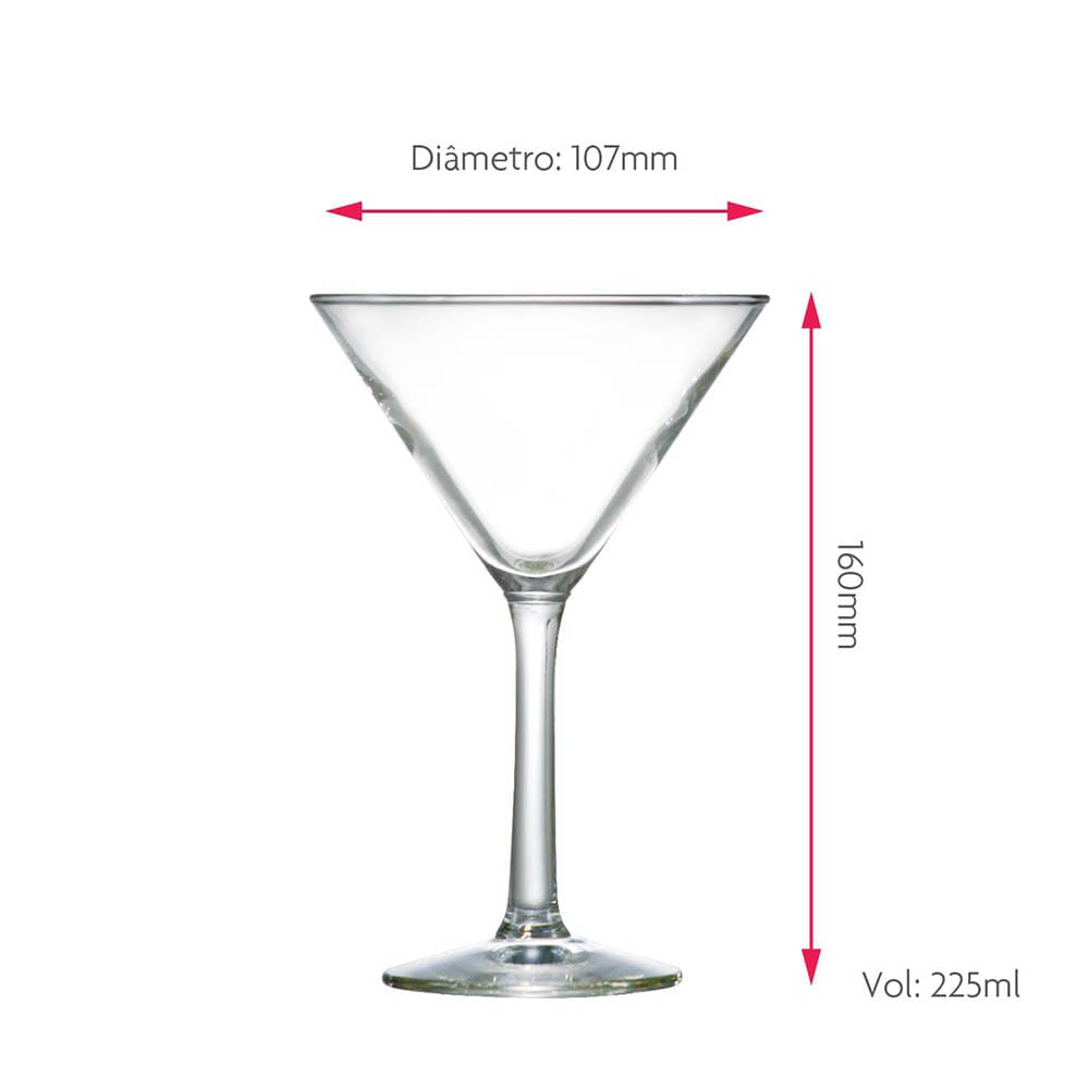 Taça de Martini Vidro 225ml