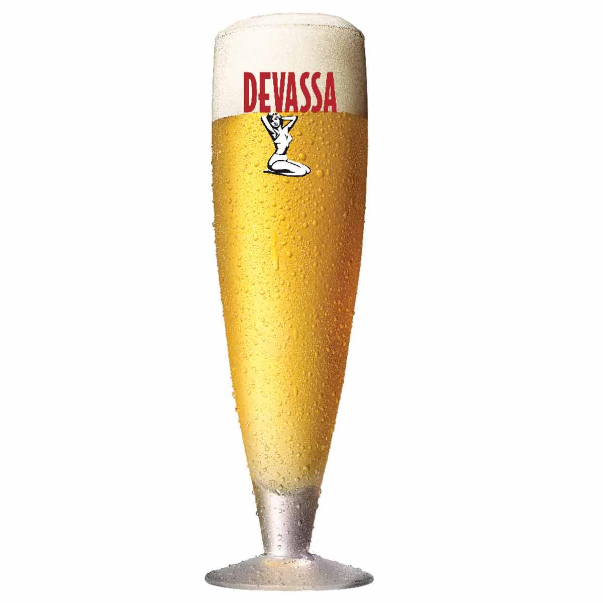 Taça de Vidro para Cerveja Devassa 380ml