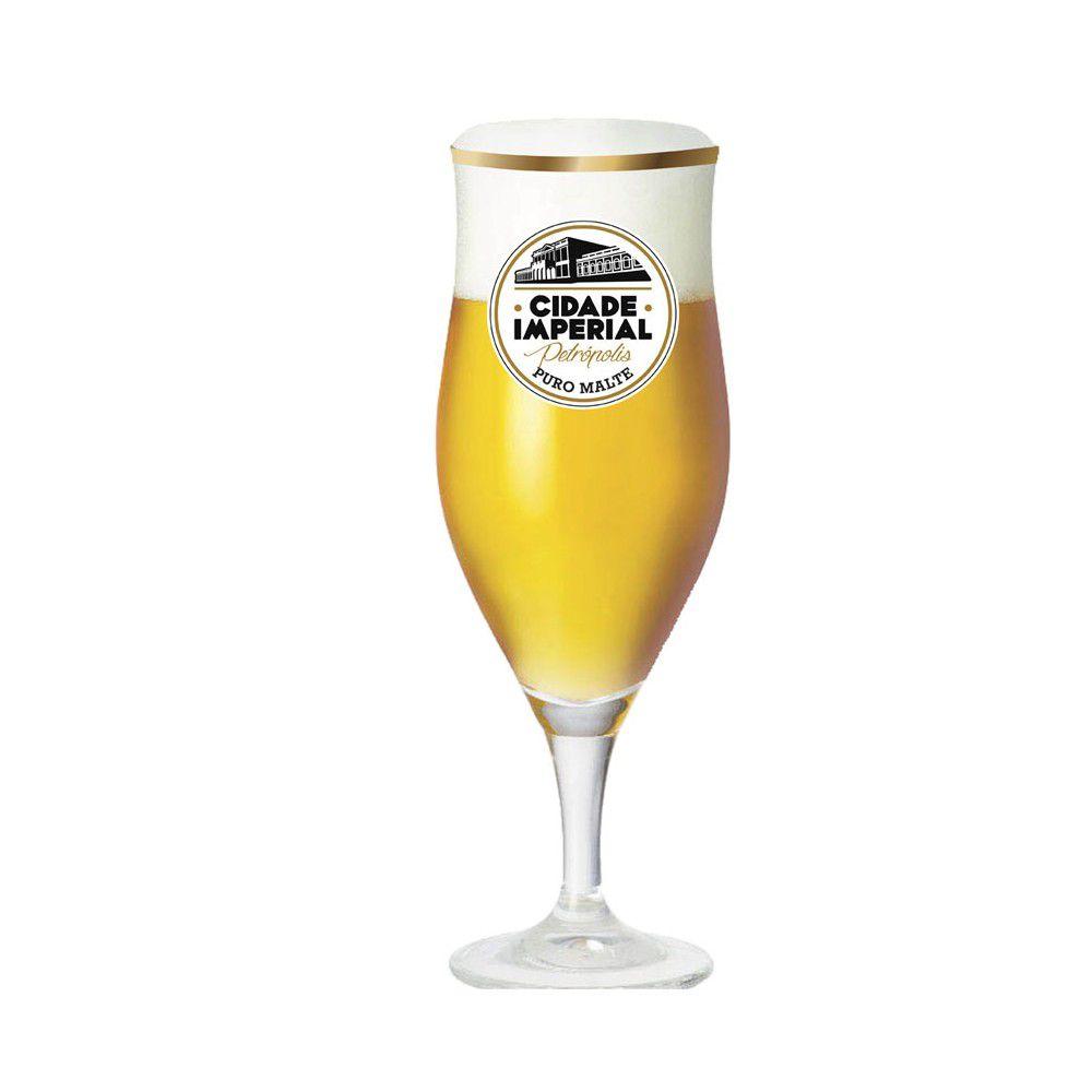 Taça de Vidro para Cerveja Lubzer 260ml Cidade Imperial