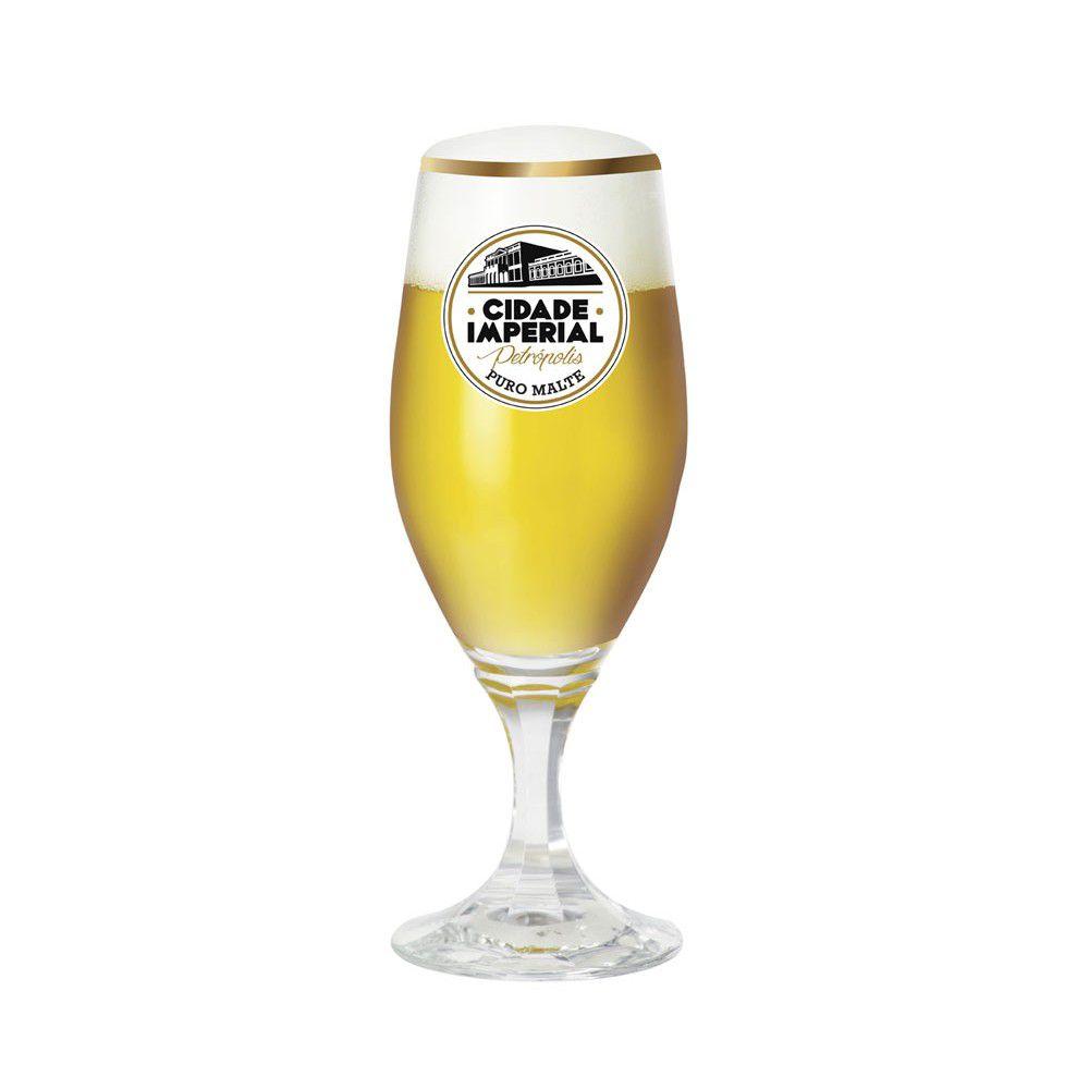 Taça de Vidro para Cerveja Velt 315ml Cidade Imperial