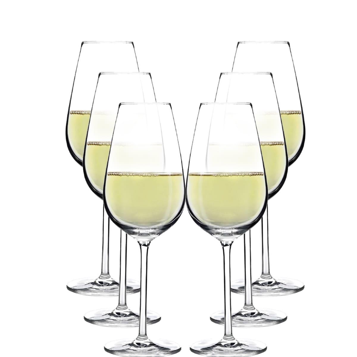 Taça de Vinho Branco Aspergo de Cristal 370ml 6 pçs