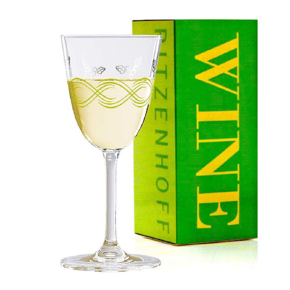 Taça de Vinho Branco Cristal Ritzenhoff Whitewine Glass Ingrid Robers 2010 200ml