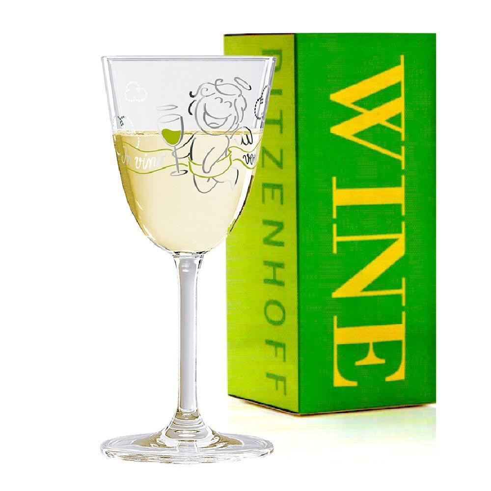 Taça de Vinho Branco Cristal Ritzenhoff Whitewine Glass Stephanie  Roehe 2011 200ml