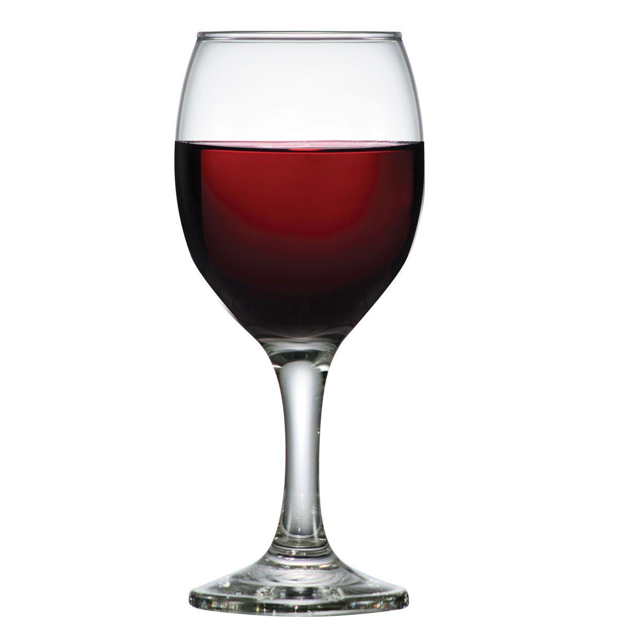 Taça de Vinho Tinto Em Vidro Roma 250ml