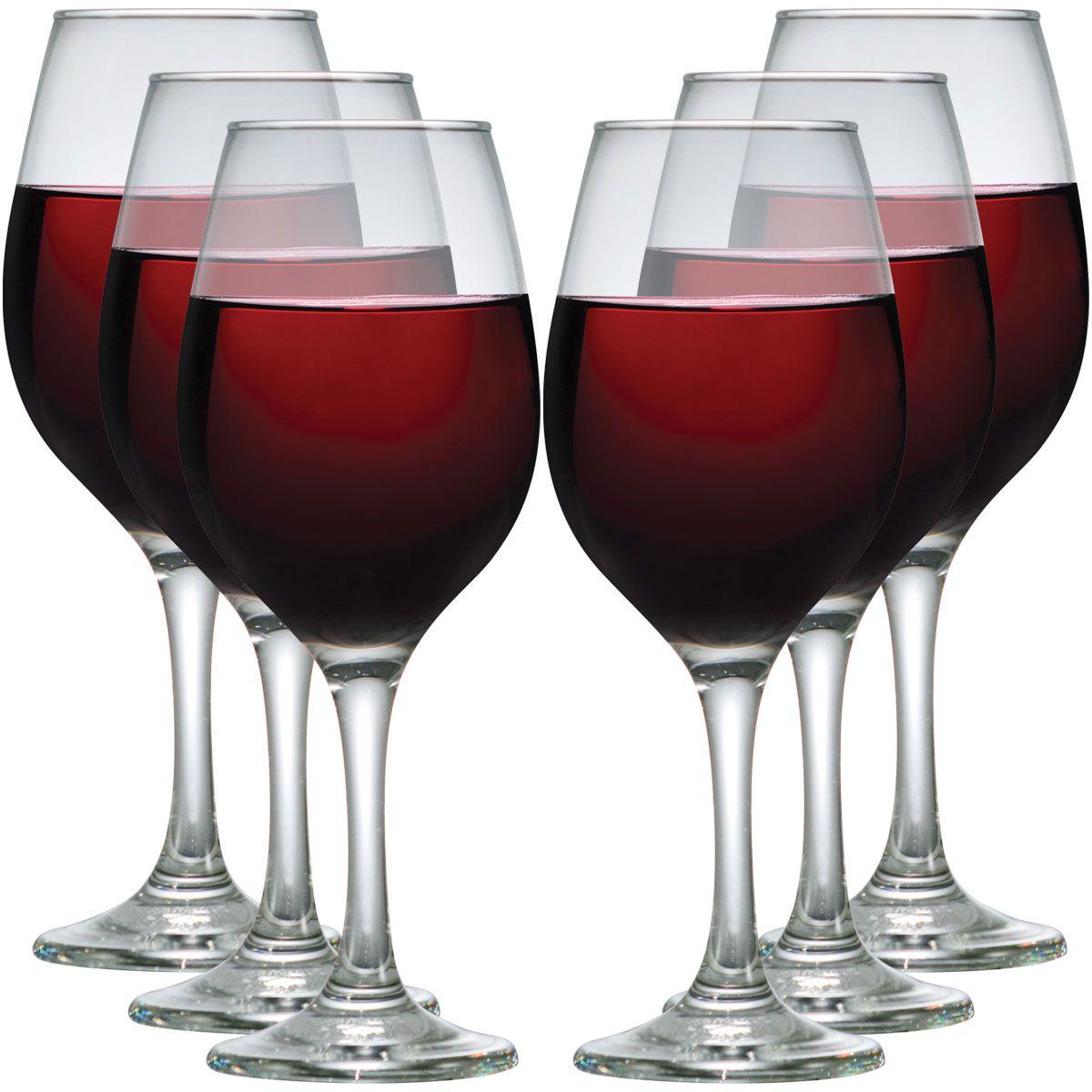 Taça de Vinho Tinto Vidro 385ml 6 pcs