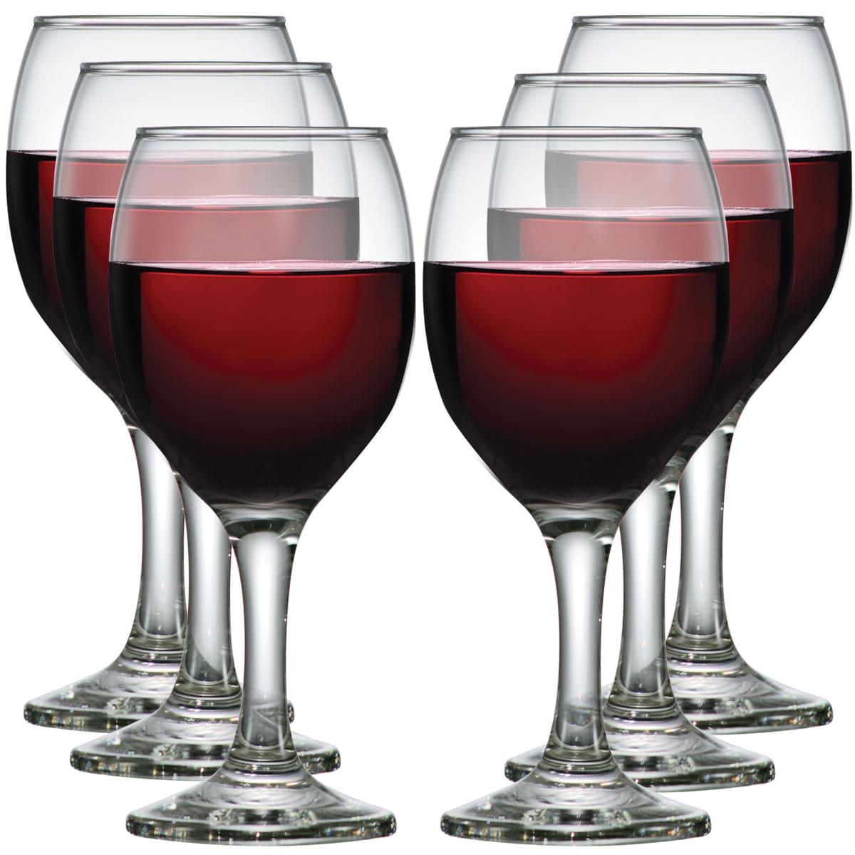 Taça de Vinho Tinto Vidro Roma 250ml 6 pçs