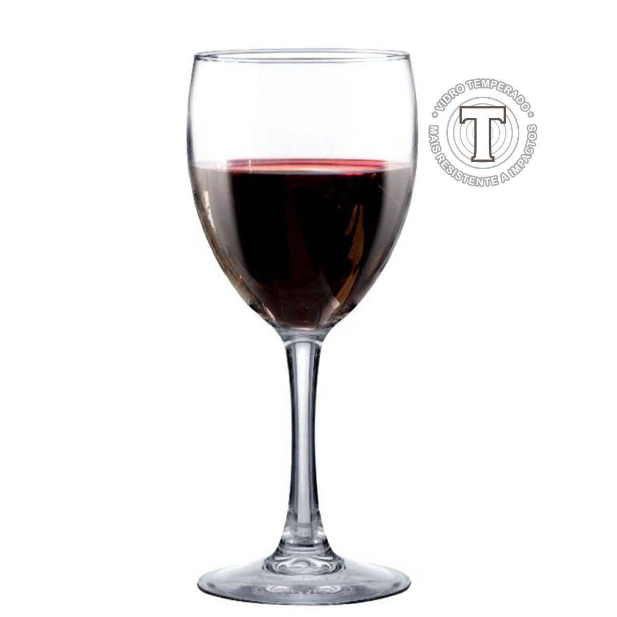 Taça de Vinho Tinto Vidro Temperado Bourbon 420ml