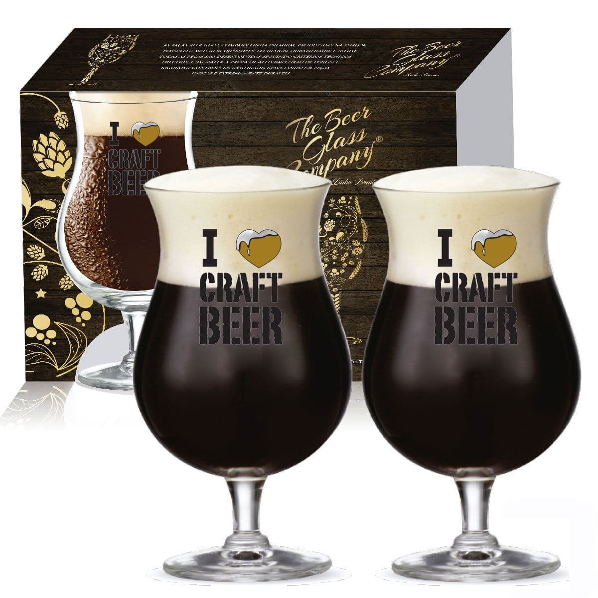 Taça Double Bock Crystal I Love Craft Beergold 2 pcs C/ Emb Unit
