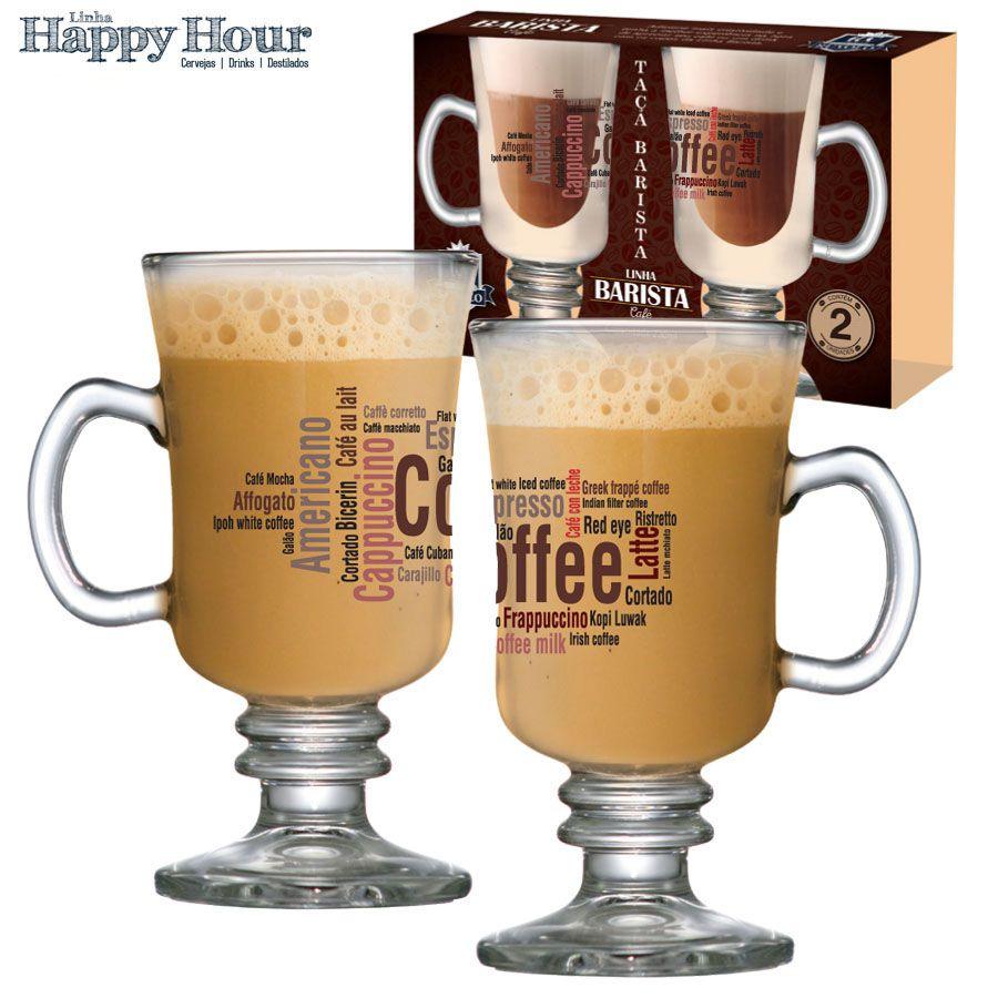 Taça para Café Vidro Barista Styles 240ml