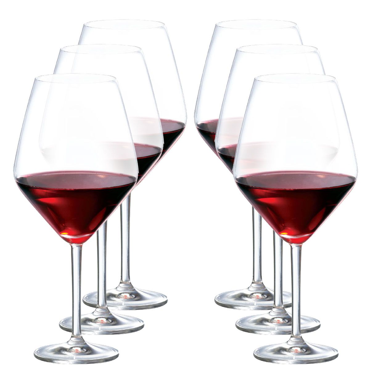 Taça Vinho - Cristal Elegance Vinho Tinto 775 Ml C/ 6 Unid