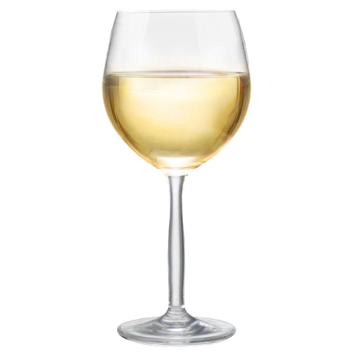 Taça Vinho - Crsital Branco Bordeaux 380ml C/ 6 Unid