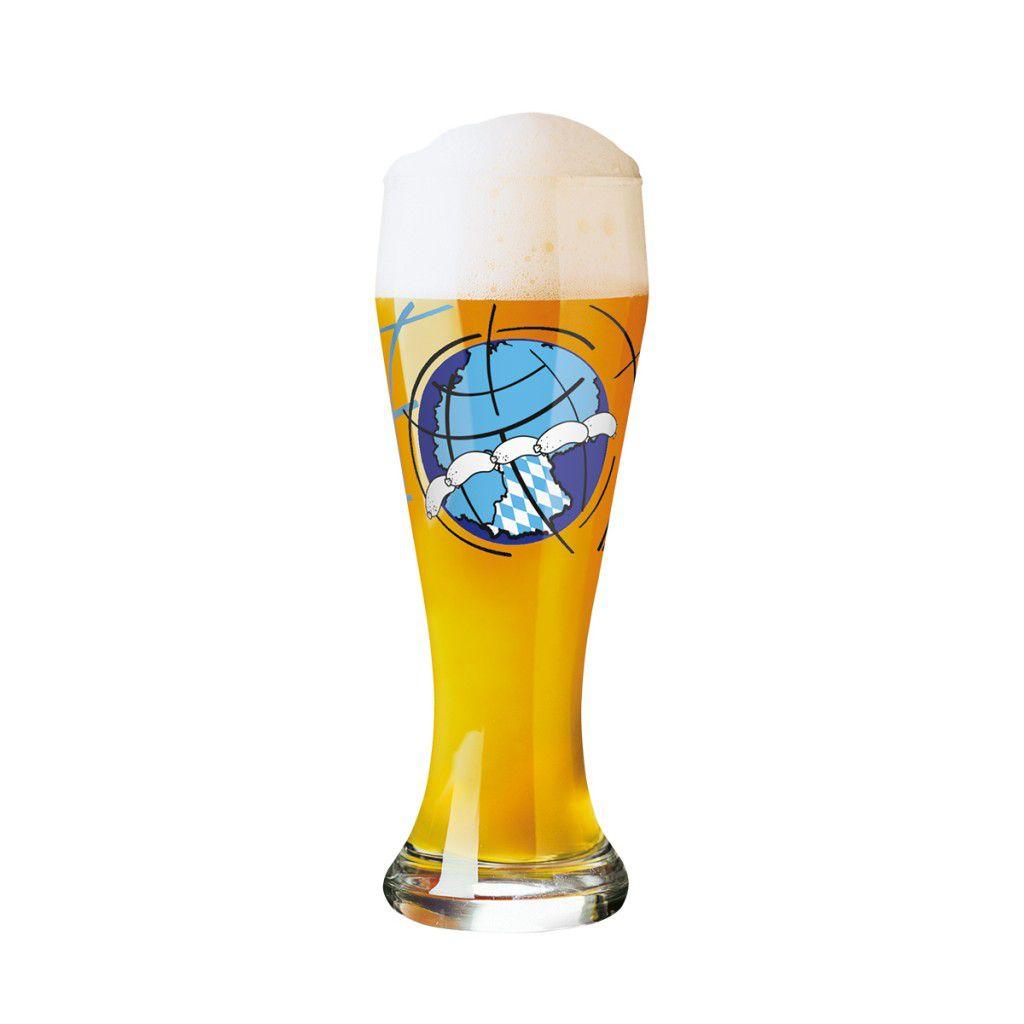 Copo Cerveja Ritzenhoff Wheatbeer Glass Andrea Hilles 2010 500ml