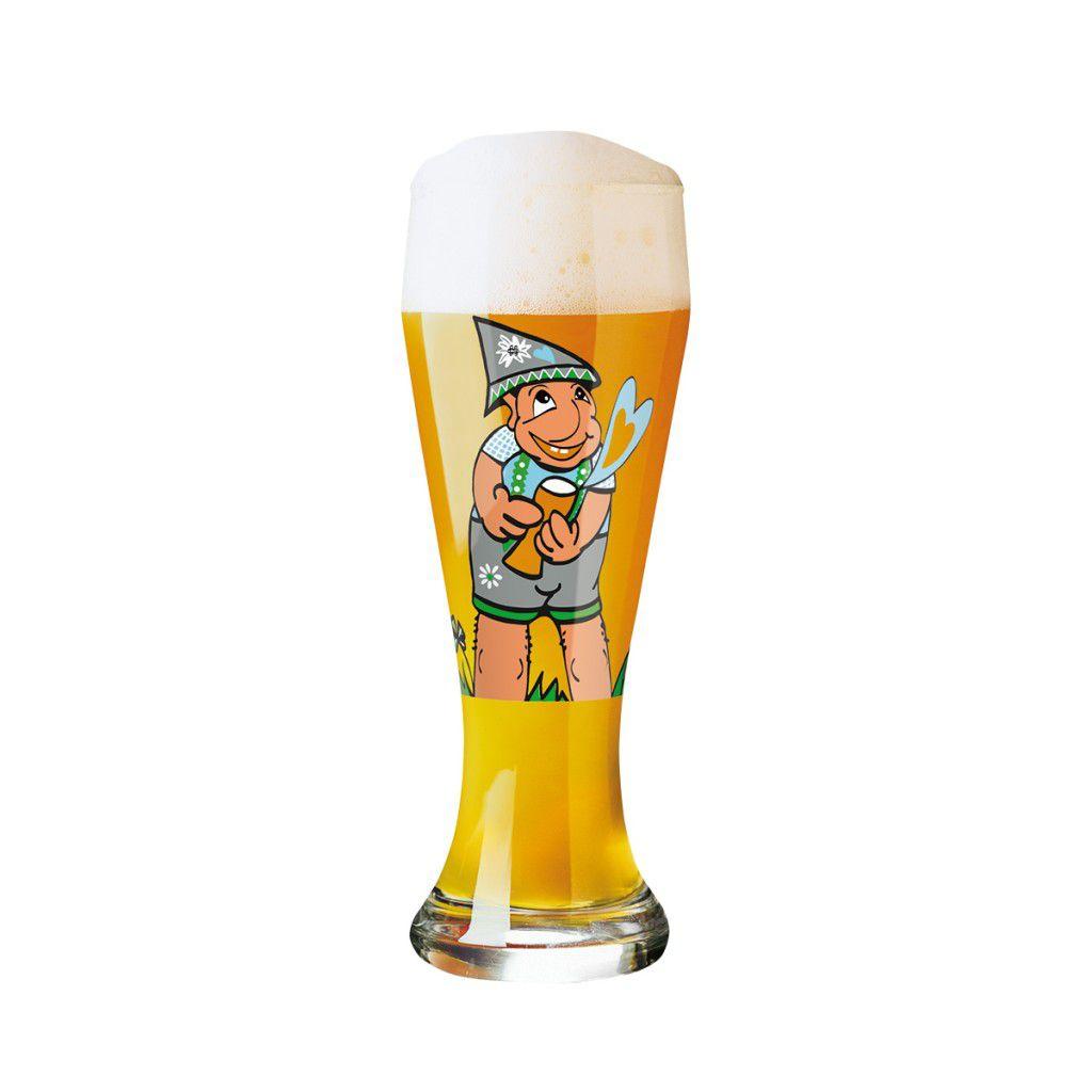 Copo de Cerveja Vidro Ritzenhoff Wheatbeer Glass Sibilly Welz  2009 500ml