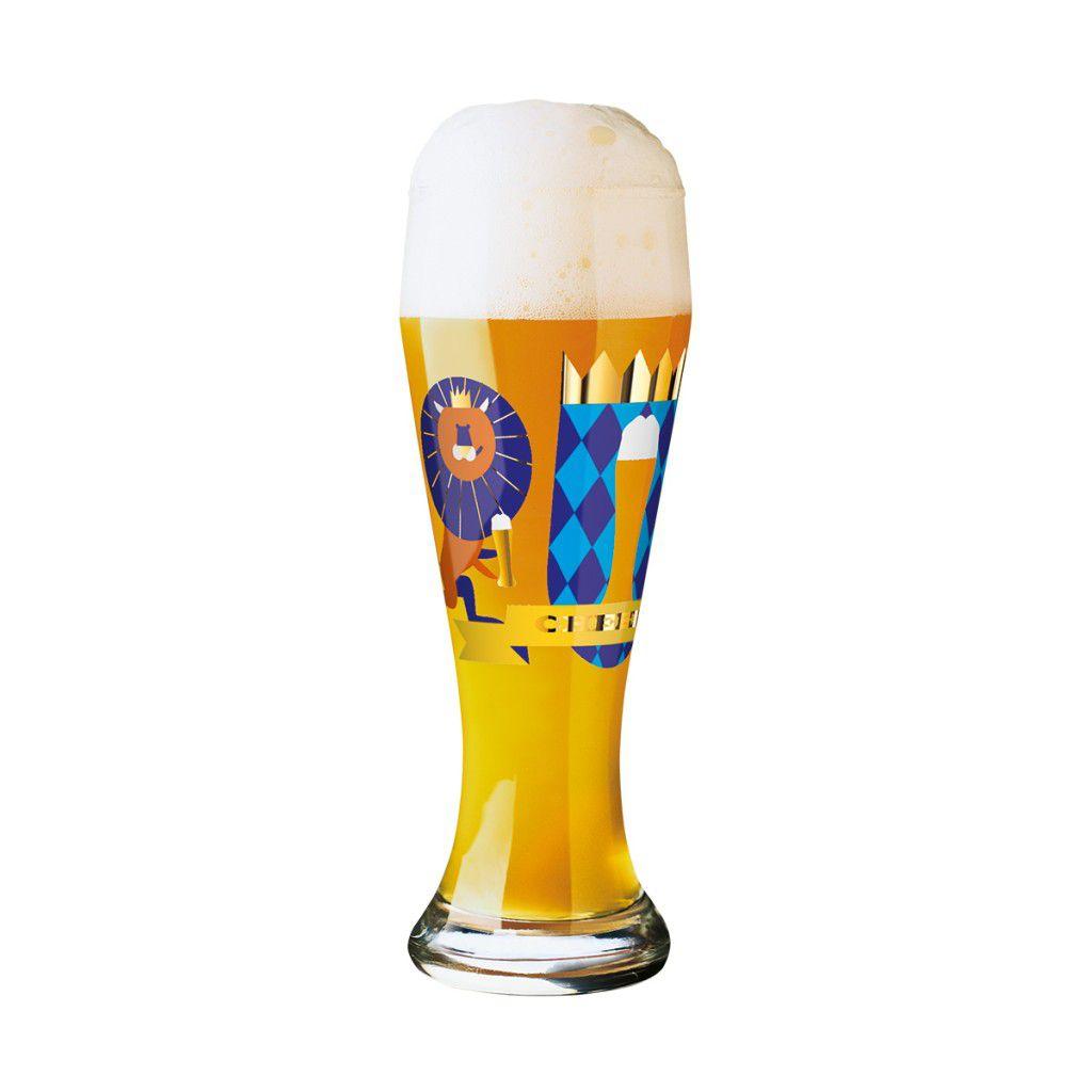 Taça de Cerveja Vidro Ritzenhoff Wheatbeer Julien Chung 2011 500ml