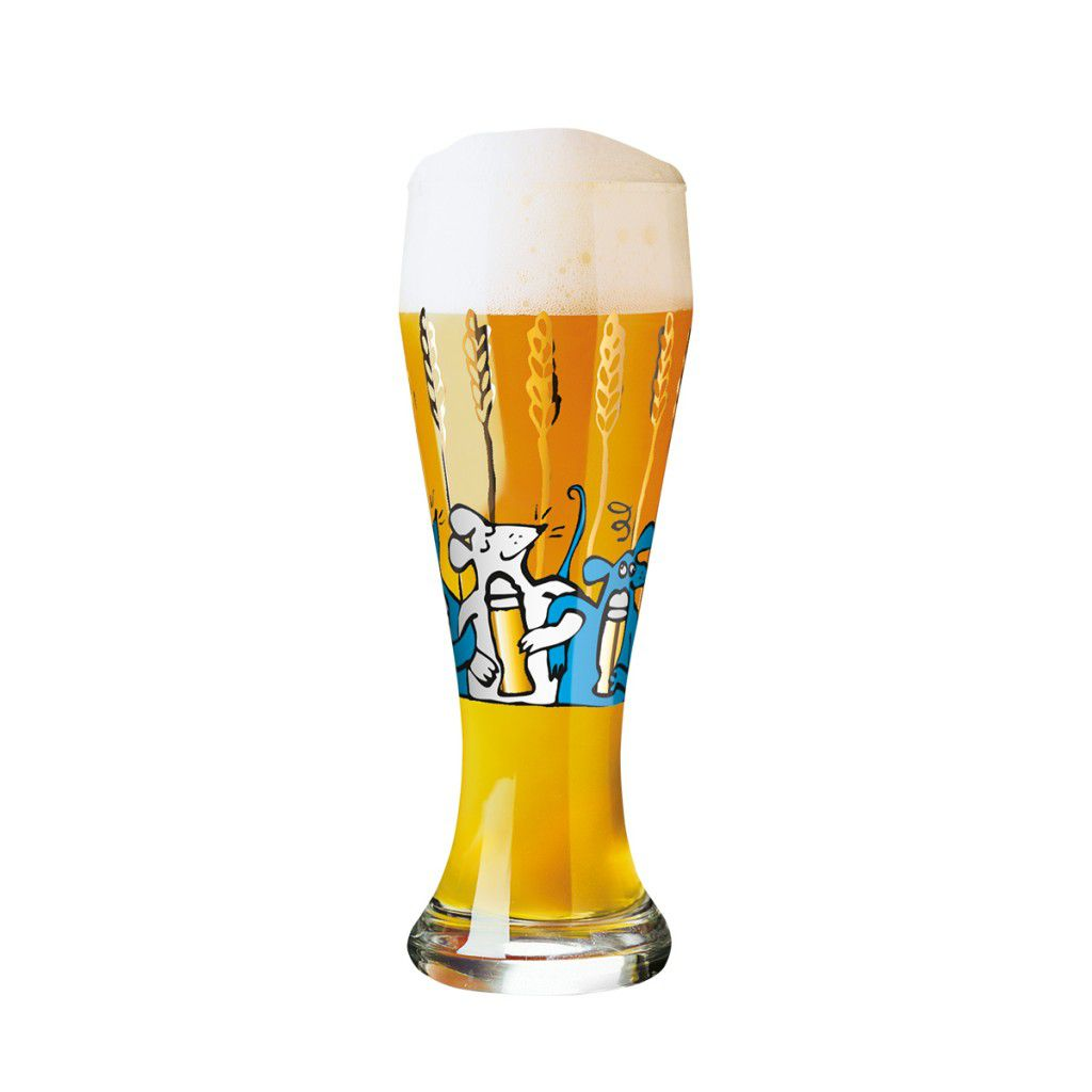 Taça de Cerveja Vidro Ritzenhoff Wheatbeer Martina Schlenke 2011 500ml