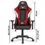 Cadeira Escritorio Confortável DT3sports Elise Red Game Jogo