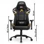 Cadeira Gamer escritório DT3sports Elise Rainbow Six - Preto