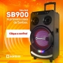 Caixa Amplificada Potente Sanbox SB900 - 900w Microfone Karaokê