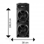Caixa de Som Amplificada PULSE SP501 Multilaser Bluetooth