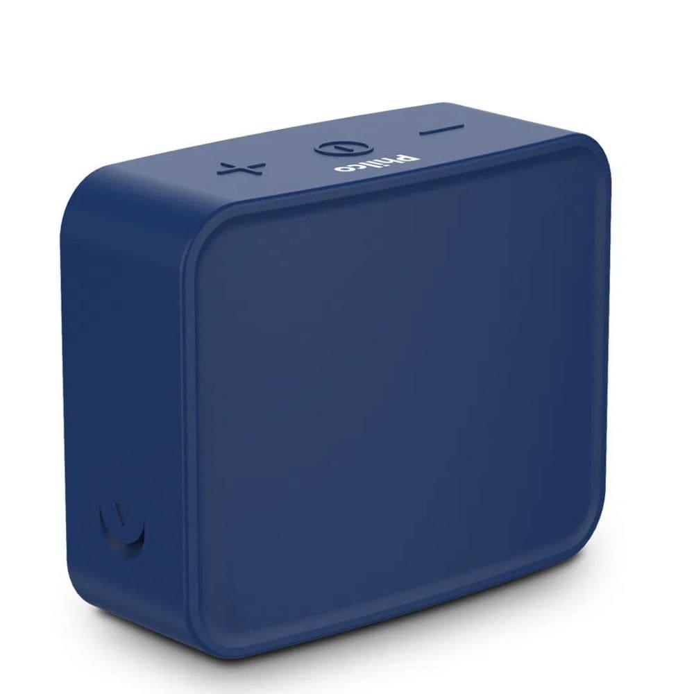 Alto Falante Portátil Potente Azul BT LED USB Philco Go Speaker PBS10BTA-10W RMS