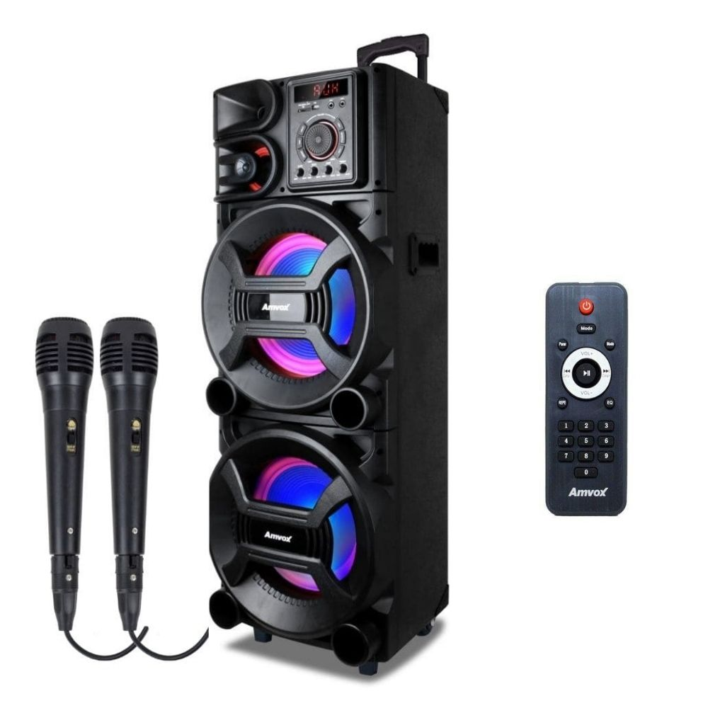 Auto falante Amvox ACA 1005 Titan LED 1000w - 02 Microfones